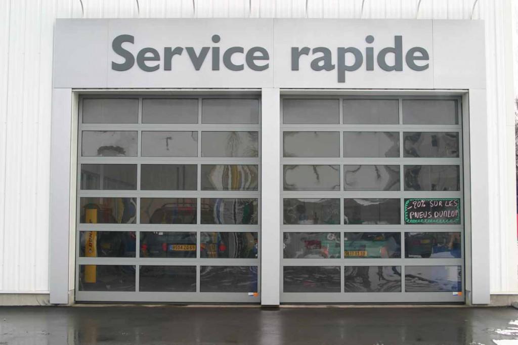 Portes sectionnelles somaferm - Separation interieure vitree ...
